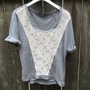 Urban Outfitters Lace-front T-shirt